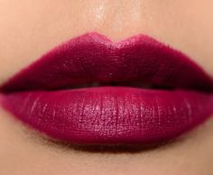 "MAC Babes and Balls Lipstick is described as a ""deep burgundy [with a Matte finish]."" It's a deep berry-plum with subtle, cool undertones and a satin finish."
