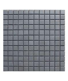 topps tiles £61.00 per m2  Pool Unglazed Black 23x23mm Mosaic