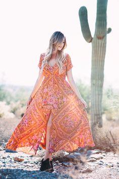 dc766eebffaca3 Desert Bohemian Vintage Floral Summer Maxi Dress