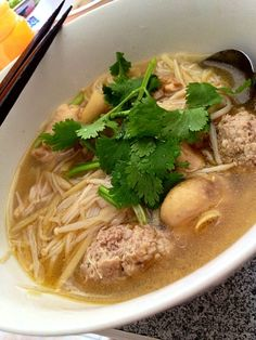 With pork mince and chicken - 32件のもぐもぐ - 雞酒麵線 Chinese wine mee sua by (=^x^=)