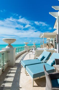 The Shore Club, Turks and Caicos - guest room balcony overlooking Long Bay.