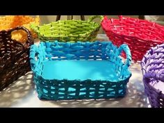 Cesta com alça - Basket with Handle - Canastra con manijas - YouTube
