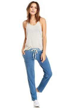 DailyLook: LAmade Indigo Porter Pants in Blue