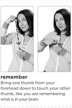 American sign language for remember