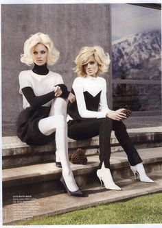 Twin Peaks I Vogue Australia I July 2011 I Models: Melissa Johannsen, Emilia Scuza I Photographer: Nicole Bentley.