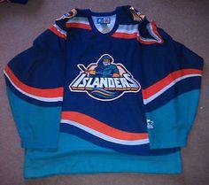 Vtg New York Islanders NHL Fisherman Hockey Jersey Starter Large ...