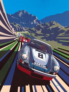 Martini Porsche - Tim Layzell's Graphic Style Captures Sheer Speed - Claire O&… - https://www.luxury.guugles.com/martini-porsche-tim-layzells-graphic-style-captures-sheer-speed-claire-o/