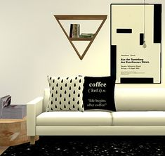Pure Sims: Assorted pillows and prints sets • Sims 4 Downloads