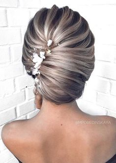 55 Amazing updo hairstyle with the wow factor - braided updo hairstyle ,swept back bridal hairstyle ,updo hairstyles ,wedding hairstyles Elegant Wedding Hair, Wedding Hair Pins, Wedding Updo, Elegant Bride, Prom Updo, Braided Hairstyles Updo, Bride Hairstyles, Updo Hairstyle, Braided Updo