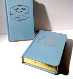 Vijf jaren dagboek dat ik in het echt heb...maar waar ik altijd in vergeet te schrijven!