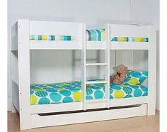 Flexa The Heidi Bunk Bed The Heidi bunk bed from Flexa offers a raised bed with bunk below plus the option to buy with storage drawers. Made from solid MDF it is finished in a cool crisp white. The broad stairs on the bunk st http://www.comparestoreprices.co.uk/bunk-beds/flexa-the-heidi-bunk-bed.asp