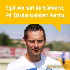Egal wie hart du trainierst, Pál Dárdai trainiert Hertha.