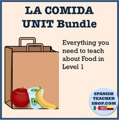 Huge Bundle for Teaching LA COMIDA in Spanish class. Save over 30% when you buy this bundle as opposed to these Food projects, games, and assessments individually.