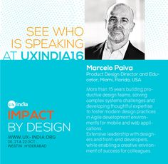 Don't miss India's biggest UX Conference. See who is speaking at UXINDIA 2016 #ux http://www.2016.ux-india.org/ #Designthinking #muqueca