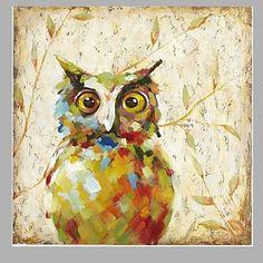 Pintada+a+mano+AnimalEstilo+europeo+Un+Panel+Lienzos+Pintura+al+óleo+pintada+a+colgar+For+Decoración+hogareña+–+USD+$+59.99
