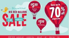 Gymboree Big Red Balloon 70% off Sale $5.99 Tops, $1.99 Accessories & More! - http://www.pinchingyourpennies.com/gymboree-big-red-balloon-70-sale-5-99-tops-1-99-accessories/ #Bigredballoonsale, #Gymboree, #Pinchingyourpennies