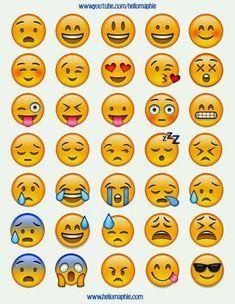 Imagen de background and emojis