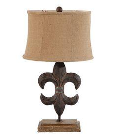 Look at this #zulilyfind! Fleur-de-Lis Lamp #zulilyfinds