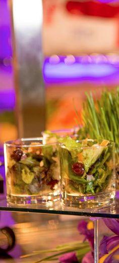 Beautifully displayed individual salads