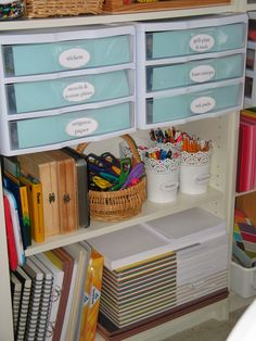 As I mentioned in my post yesterday I have been busy sprucing up the house and one of my projects has been to revamp our homeschool cla...