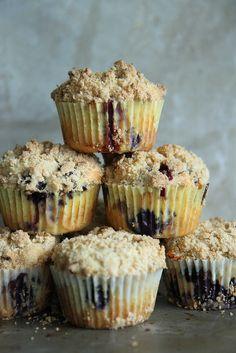 Lemon Blueberry Streusal Muffins by Heather Christo