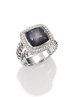 David Yurman - Black Orchid, Diamond & Sterling Silver Ring