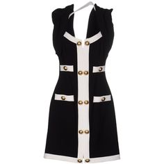 Moschino Couture Short Dress ($865) ❤ liked on Polyvore featuring dresses, black, longsleeve dress, mini tube dress, print mini dress, long sleeve mini dress and short dresses