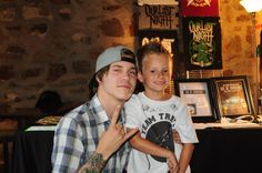 Our mini Our Last Night Street Team member and his idol