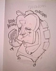 BarnyBreadMün O_o...Delve into the sacred sandwich of the mind...o_O . . . . . . @Magicpineappleuk  . . . . . #nom #sandwich #foodgasm #foodporn #foodie #illustration #graff #graffiti #design #pencil #doodle #doodlesndrips #instafood #funk #groovy #yum #bread #butteredtoast #gravy #sketch #autumn #northernquarter #sleepy #punk #yeah #kush #drawn #weirdo #hightimes #xfiles