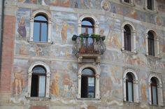 """Facciata con balcone - E. Adamo """"Trento, Italy"""" #architecture #italy #arredamento #stampe"""