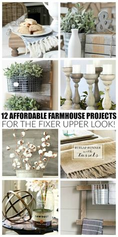These beautiful projects are easy, affordable and will give your home the perfect touch of farmhouse style.