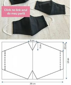 Easy Face Masks, Diy Face Mask, Small Sewing Projects, Sewing Hacks, Diy Projects, Fashion Sewing, Diy Fashion, Costura Fashion, Mouth Mask Fashion