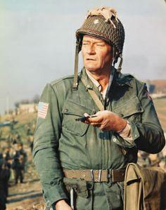 John Wayne starred in 'The Longest Day', the epic retelling of the invasion of Normandy in World War II. (© CinemaPhoto/CORBIS) - Dunway Enterprises John Wayne Quotes, John Wayne Movies, Old Movies, Great Movies, Awesome Movies, John Wayne Biography, Le Jour Le Plus Long, John Wayne Airport, Westerns