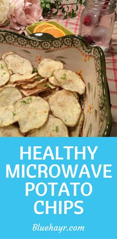A surprisingly simple way to make a not so healthy snack into a little less salty and preservative free so good chip. I'm talking about my crunchy microwave potato chips.