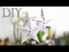 DIY (Tutoriel) Etoiles en Origami - YouTube