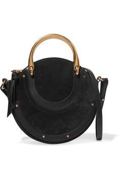 4a93b15b3 Chloé Pixie suede and textured-leather shoulder bag Black suede and  textured-leather (