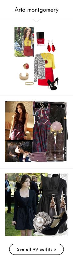 """Aria montgomery"" by lulu-bambolina ❤ liked on Polyvore featuring River Island, Mexx Metropolitan, Jill Zarin, MANGO, Sabine, Shashi, Napier, Butter London, Heist and Guide London"
