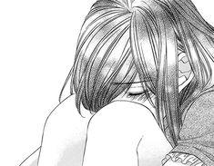 Love the hair <3 | monochrome Anime Girl crying