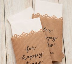 Tissue Wedding Favours Kraft Paper For Hy Tears Of Joy Unique Favors Personalized Ceremony