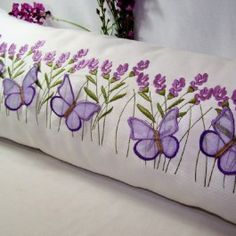 3D Butterfly & Lavender Pillow
