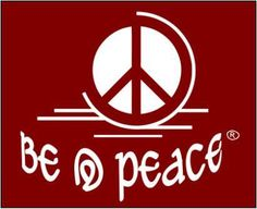 ☮ American Hippie Art Quotes ~ Peace ☮ Be @ peace .. red