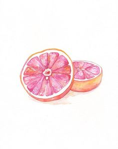 water color grapefruit