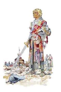"Illustration de Pierre Joubert extraite du portfolio ""ENFANCE"" ""Baudouin IV de Jérusalem"". Fantasy Inspiration, Character Inspiration, Character Art, Character Design, Medieval Costume, Medieval Art, Medieval Fantasy, Boy Scouts, King Of Jerusalem"