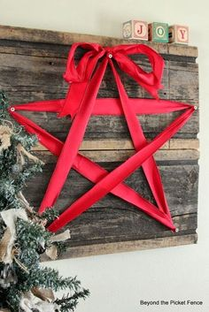 Love this ribbon star!