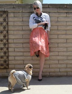 Skirt and pug for Easter wear!