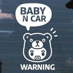 Car Sticker - 'BABY IN CAR'