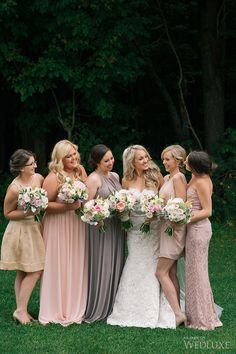 Supportive and beautiful bridesmaids in warm elegant dusty colour dresses | WedLuxe Magazine | Photography by: Lifeimages #wedding #luxury #dresses #bridesmaid #bridesmaiddresses #weddinginspiration