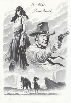 Tex e Lupe Velasco na MAGNÍFICA arte de Alessandro Piccinelli