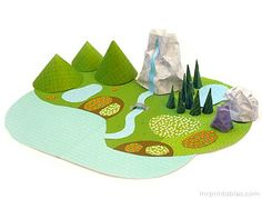 printable landscaping...or could just cut out shapes from paper. why didn't I think of this?