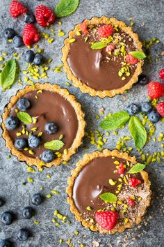 Re-Pin By @siliconem -  Vegan Chocolate Ganache Torte. A decadent, rich dessert that looks nearly too…